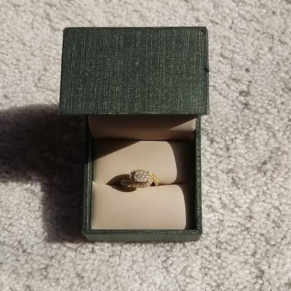 10 Karat Gold Diamond Ring